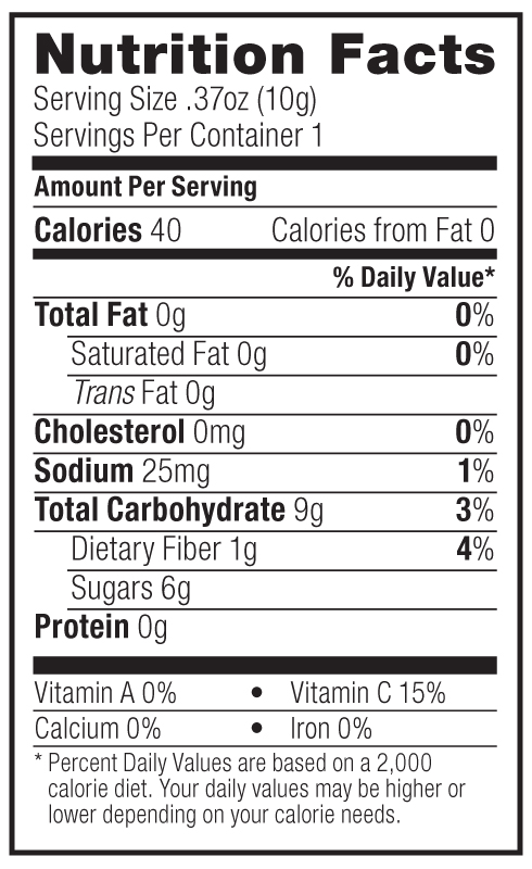 outshine fruit bars nutrition facts fruit cake healthy