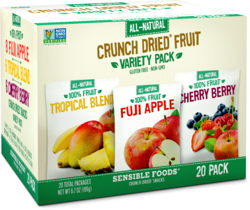 Variety Pack. Fuji Apple, Cherry Berry, Tropical Blend (20 Count/.32-.37 Oz Pouch)