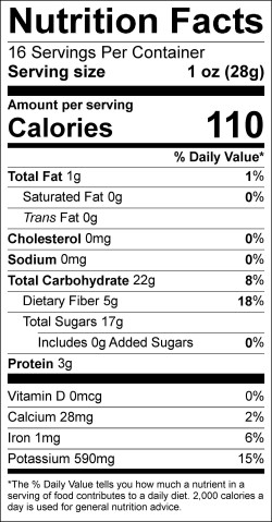 Label- Freeze Dried Apricot