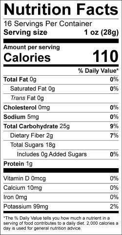 Label- Freeze Dried Mango